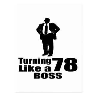 Turning 78 Like A Boss Postcard