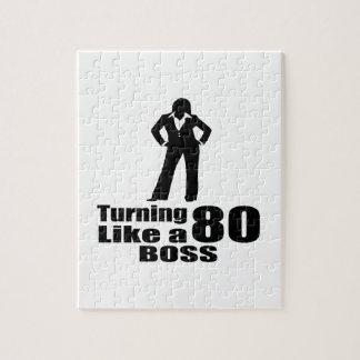 Turning 80 Like A Boss Jigsaw Puzzle