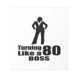 Turning 80 Like A Boss Notepad