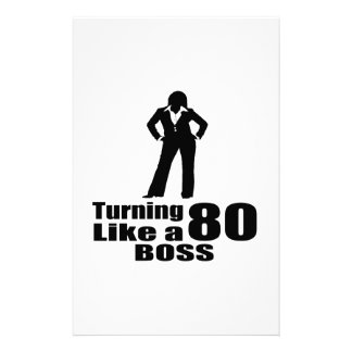 Turning 80 Like A Boss Stationery