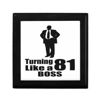 Turning 81 Like A Boss Gift Box