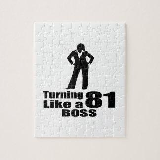 Turning 81 Like A Boss Jigsaw Puzzle