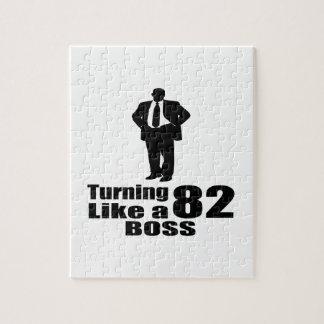 Turning 82 Like A Boss Jigsaw Puzzle