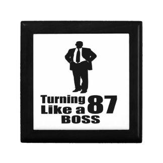 Turning 87 Like A Boss Gift Box