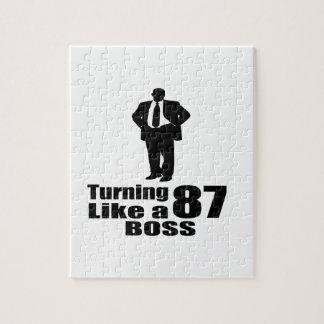 Turning 87 Like A Boss Jigsaw Puzzle