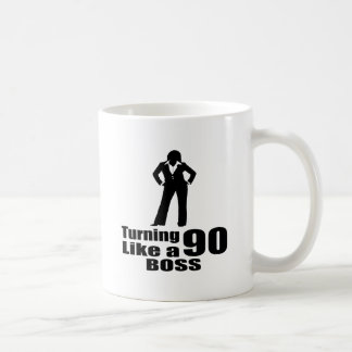 Turning 90 Like A Boss Coffee Mug