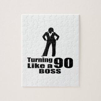 Turning 90 Like A Boss Jigsaw Puzzle