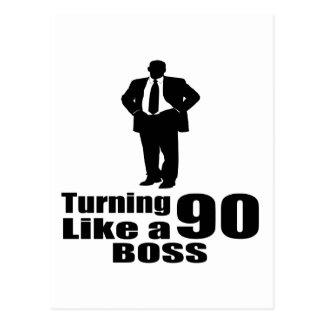 Turning 90 Like A Boss Postcard