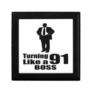 Turning 91 Like A Boss Gift Box