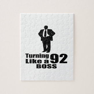 Turning 92 Like A Boss Jigsaw Puzzle