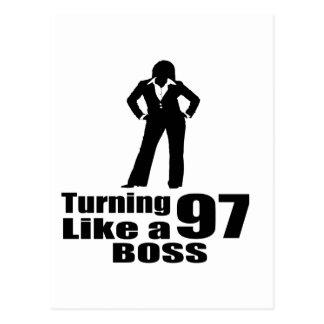 Turning 97 Like A Boss Postcard