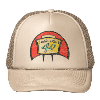 Turning Forty 40th Birthday Gifts Trucker Hat