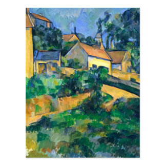 Turning Road at Montgeroult by Paul Cezanne Postcard