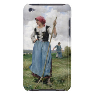 Turning the Hay (oil on canvas) iPod Case-Mate Case