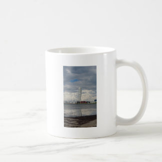 Turning torso beach malmö sweden coffee mug