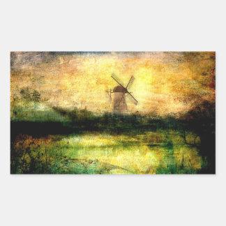 Turning Windmill Rectangular Sticker