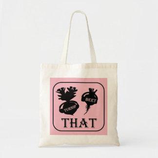 Turnip That Beet Tote Bag - Pink