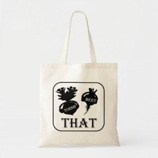 Turnip That Beet Tote Bag - White