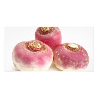 Turnips Custom Photo Card