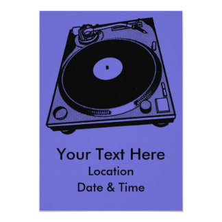 "Turntable Graphic 5"" X 7"" Invitation Card"