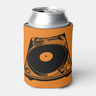 Turntable Graphic Can Cooler