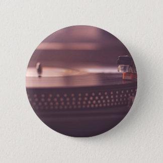 Turntable Music Record Vinyl Equipment Black 2 Inch Round Button