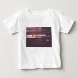 Turntable Music Record Vinyl Equipment Black Baby T-Shirt