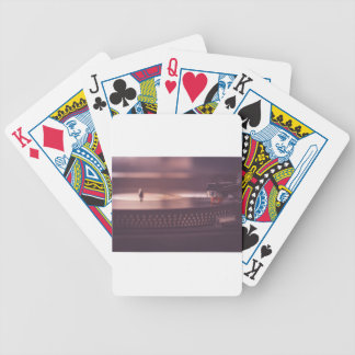 Turntable Music Record Vinyl Equipment Black Bicycle Playing Cards