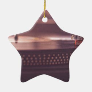 Turntable Music Record Vinyl Equipment Black Ceramic Ornament