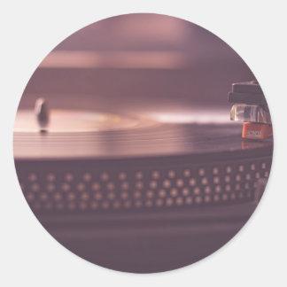 Turntable Music Record Vinyl Equipment Black Classic Round Sticker