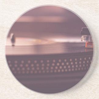Turntable Music Record Vinyl Equipment Black Coaster