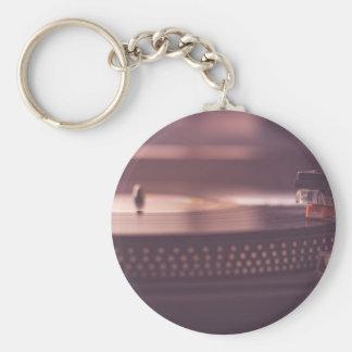 Turntable Music Record Vinyl Equipment Black Keychain