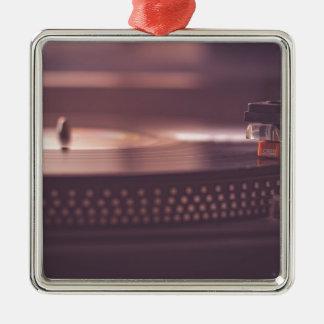 Turntable Music Record Vinyl Equipment Black Metal Ornament