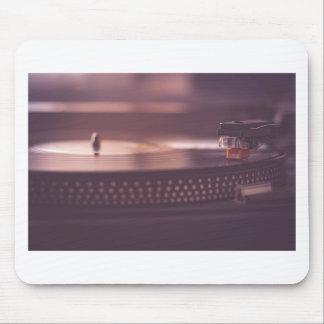 Turntable Music Record Vinyl Equipment Black Mouse Pad