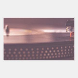 Turntable Music Record Vinyl Equipment Black Sticker