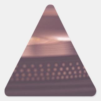 Turntable Music Record Vinyl Equipment Black Triangle Sticker