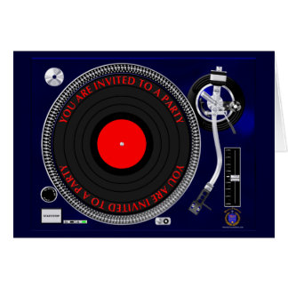 Turntable Party Invitation