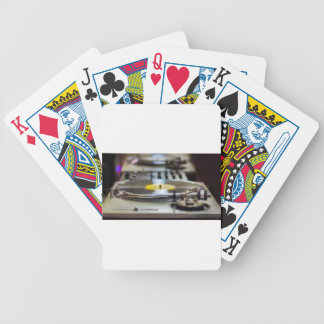 Turntable Record Vinyl Music Sound Retro Vintage Bicycle Playing Cards
