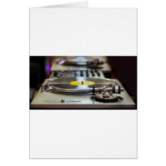 Turntable Record Vinyl Music Sound Retro Vintage Card