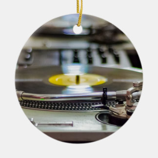 Turntable Record Vinyl Music Sound Retro Vintage Ceramic Ornament