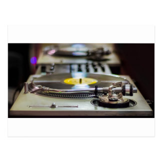 Turntable Record Vinyl Music Sound Retro Vintage Postcard