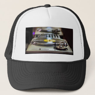 Turntable Record Vinyl Music Sound Retro Vintage Trucker Hat