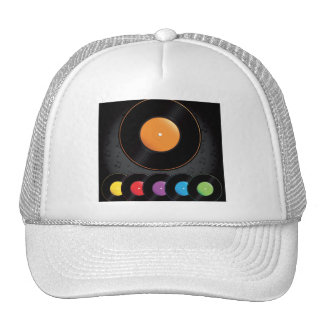 Turntable Records In Vivid Colors Trucker Hat