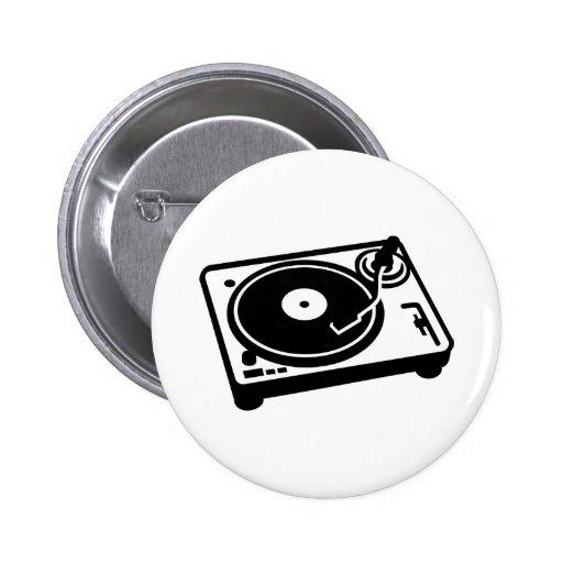 Turntable vinyl button
