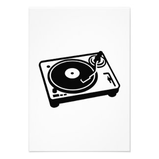 Turntable vinyl personalized invite