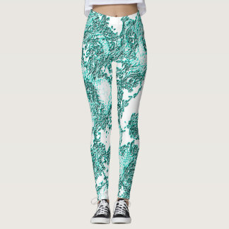 Turqoise Angelic Leggings