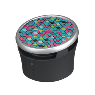 Turqouise and Pink Cube Pattern Speaker
