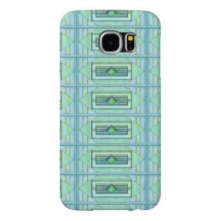 Turquise Art Deco Tiles Samsung Galaxy S6 Cases
