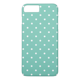 Turquoise 50s Polka Dot iPhone 7 Plus Case