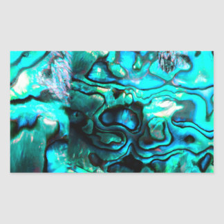 Turquoise abalone paua shell detail sticker